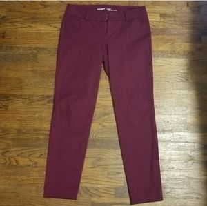 Pixie Ankle Length Maroon Chinos